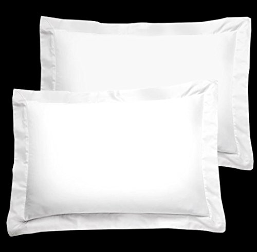 American Pillowcase White Pillow Shams Set of 2 – Luxury 300 Thread Count 100% Egyptian Cotton (2 Pack, King 20 x 36)