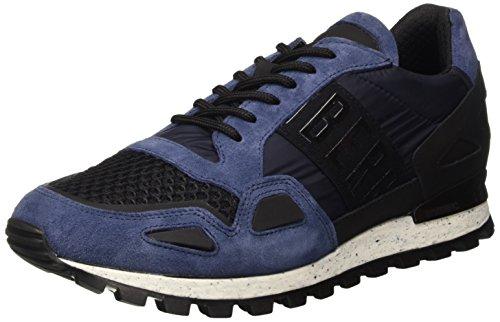 Bikkembergs Fend-Er 739 Shoe M Nylon/Nabuk, Scarpe Low-Top Uomo, Blu, 45 EU