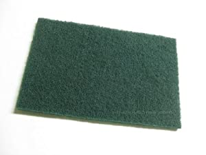 Winco Scouring Pad Green 10 Pieces 9 x 6-inch SP-96