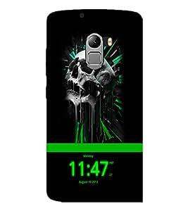 PrintDhaba Skull D-4053 Back Case Cover for LENOVO VIBE K4 NOTE (Multi-Coloured)