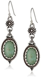 Lucky Brand Women's Morning Star Double Drop Earrings Turquoise Drop Earrings