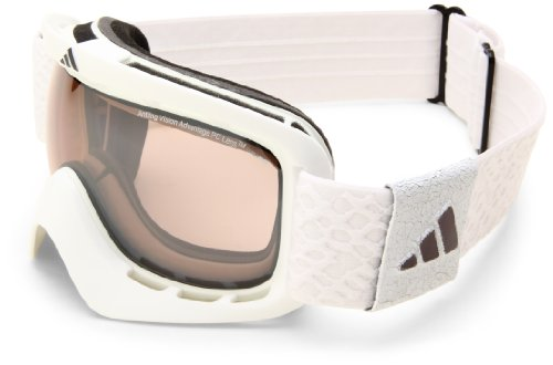 adidas ID2 a162-6060 Rectangle Sunglasses,Matte White Frame/LST Active Silver Light Lens,One Size