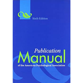 Set A Shopping Price Drop Alert For Publication Manual of the American Psychological Association, 6th Edition
