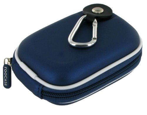 rooCASE EVA Hard Shell (Dark Blue) Case with Memory Foam Samsung SL600 12.2MP Digital Camera Black