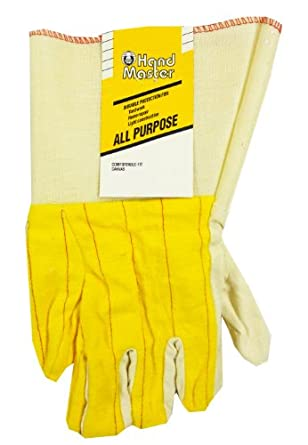 MAGID GLOVE & SAFETY CH84T Cotton Canvas Glove, Large, Yellow