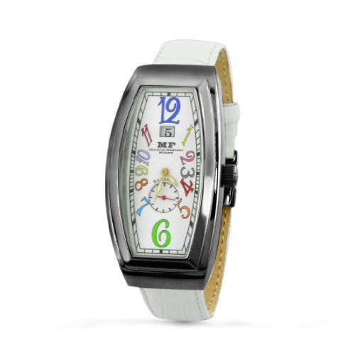 Franchi Menotti Men's 5000 Banana Collection White with Numbers Dial Watch