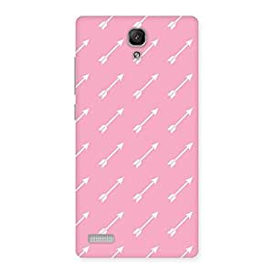 Impressive Pink And Arrow Multicolor Back Case Cover for Redmi Note