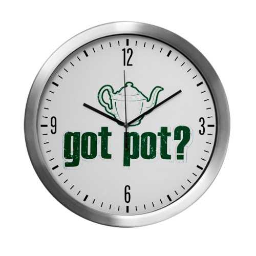 Modern Wall Clock Got Pot Marijuana Grunge