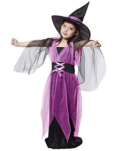 Chuangmei Children's Performances Masquerade Halloween Costumes Witch Clothes