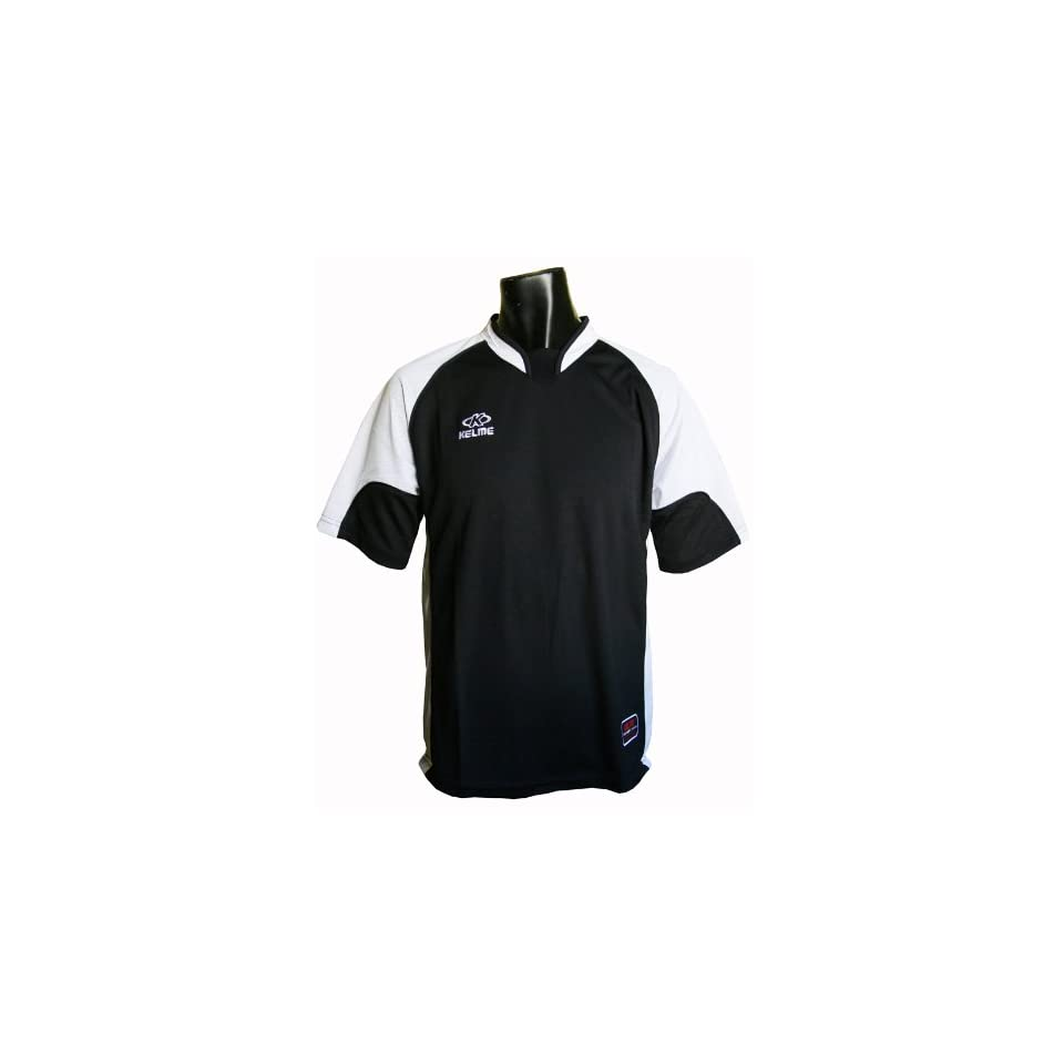 Kelme Villa Custom Soccer Jerseys  138 BLACK/WHITE AS  Soccer Equipment  Sports & Outdoors