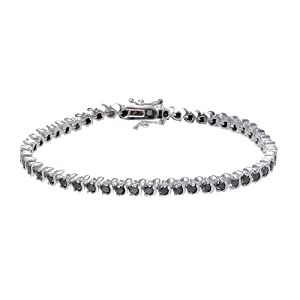 Sterling Silver Black Diamond Bracelet (4 CT)