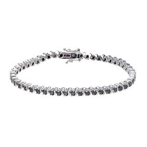 Sterling Silver Black Diamond Bracelet (4 CT)