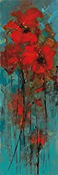 12W x 36H Delights of the Heart I by Luis Solis - Stretched Canvas w/ BRUSHSTROKES
