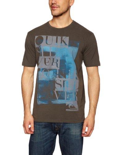 Quiksilver Premium Tee Plain Men's T-Shirt Anthracite Large 1