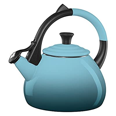 Le Creuset Oolong 1.9-qt. Enamel on Steel Whistling Teakettle - Caribbean