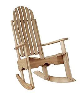 Amazon.com : Cypress Rocking Chair / Rocker Contoured Seat and Back ...