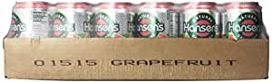 Hansen's Grapefruit Soda, 12 Ounce Cans (Pack of 24)