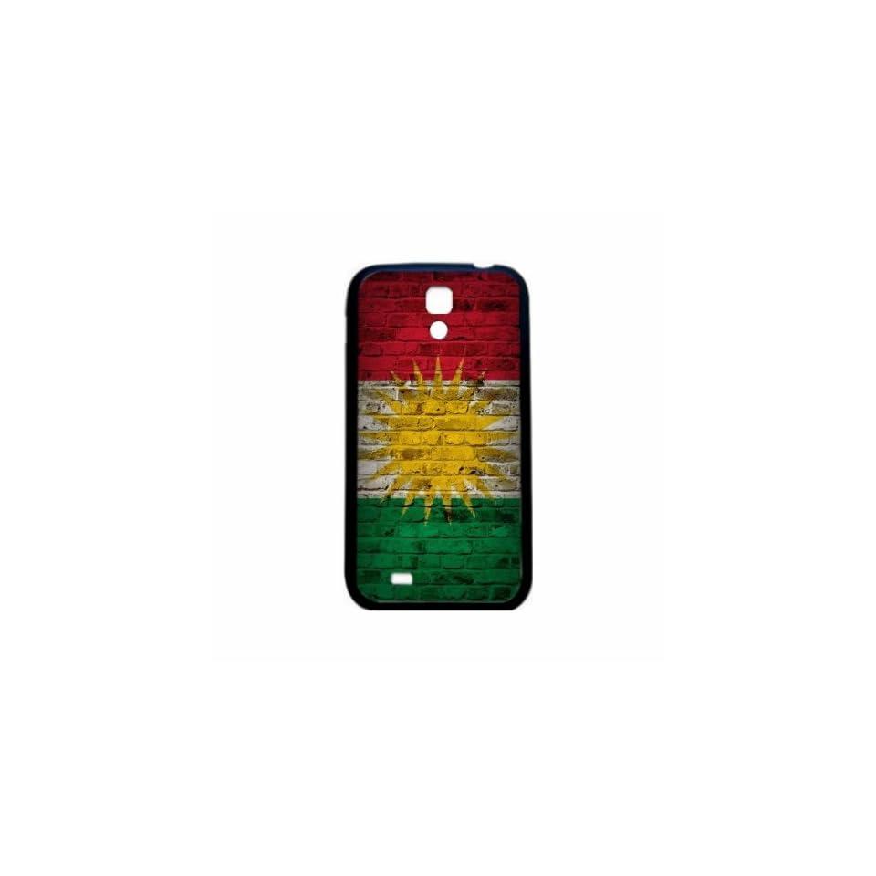 Kurdistan Brick Wall Flag Samsung Galaxy S4 Black Silcone Case   Provides Great Protection