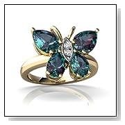 Alexandrite Butterfly Ring