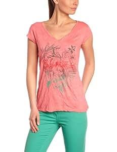 Oxbow Nirat T-Shirt manches courtes froissé femme Tea Rose FR : 42 (Taille Fabricant : 4)