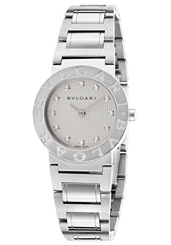 Bulgari Bb26wss-12N Women's Diamonds Stainless Steel White Round Dial Watch