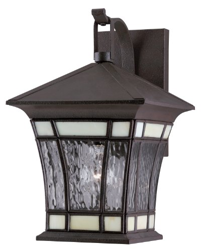 Westinghouse Lighting 6486500 One Light Exterior Wall Lantern Textured Rust Patina On Solid