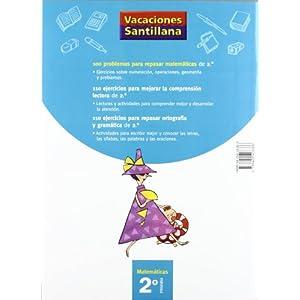 Vacaciónes Santillana, matemáticas, 2 Educación