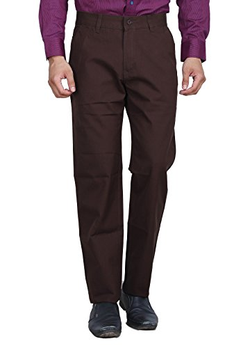 Studio Nexx Men's Regular Fit Cotton Chinos Trouser (Coffee, Size - 36)  available at amazon for Rs.749