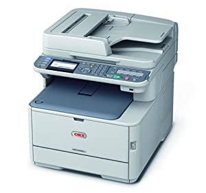 Oki MC342dnw Farblaser-Multifunktionsgerät (Scanner, Kopierer, Drucker, Fax, 1200 x 600 dpi, WLAN, USB 2.0) grau