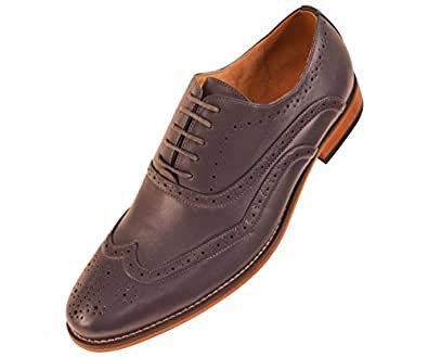 amali mens light grey classic smooth dress shoe with
