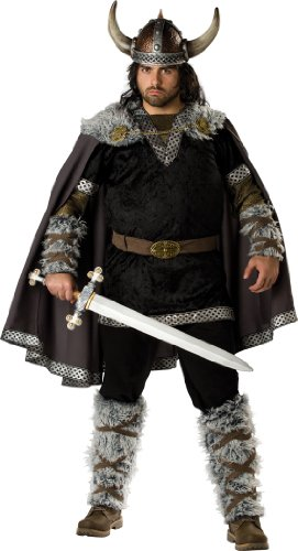 InCharacter Costumes, LLC Viking Warrior Adult Plus Set, Black/Gold, XXX-Large