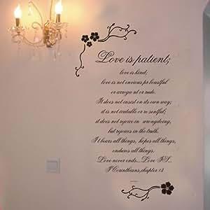 diy love is patient love is kind 1 corinthians 13 wall. Black Bedroom Furniture Sets. Home Design Ideas