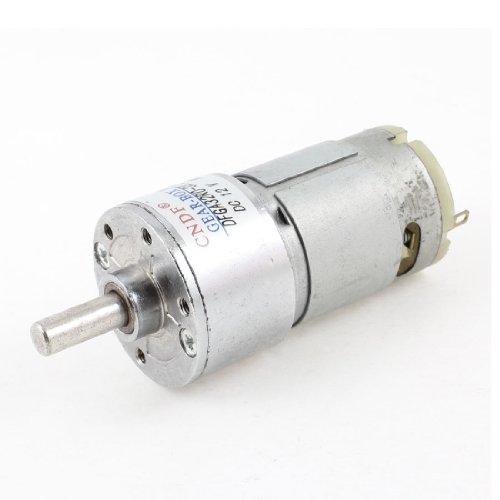 6Mm Shaft 2 Pin Connector Cylinder Shape Gear Box Motor Dc 12V 300Rpm