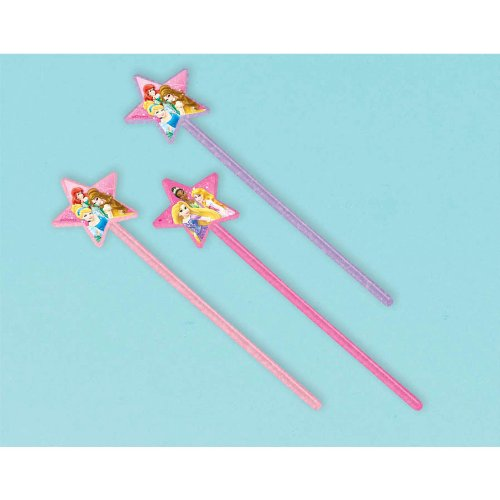 American Greetings Disney Princess Party Wands, 12 Count, Party Supplies