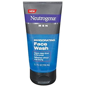 Neutrogena Men Invigorating Face Wash, 5.1 Ounce and Anti-Residue Shampoo