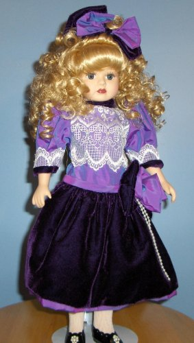 Victorian Rose Collection Genuine Porcelain Doll with Purple Dress - Buy Victorian Rose Collection Genuine Porcelain Doll with Purple Dress - Purchase Victorian Rose Collection Genuine Porcelain Doll with Purple Dress (Victorian Rose Collection, Toys & Games,Categories,Dolls,Porcelain Dolls)