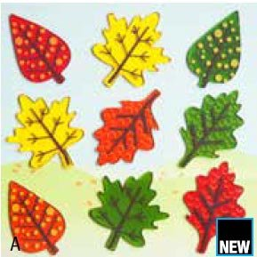 GelGems Falling Leaves Small Bag Gel Clings - 1