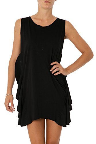 PLEASE - Vestito donna regular fit senza maniche a3819a042 s nero