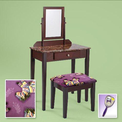 Mirrored Desk Vanity