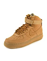 "Nike Mens Air Force 1 High '07 LV8 ""Wheat"" Flax/Outdoor Green Leather"