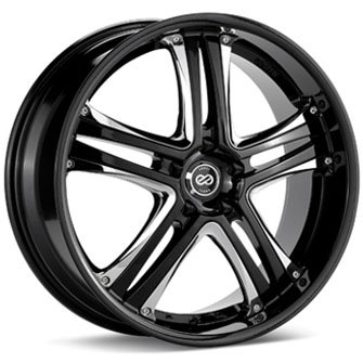 Enkei AKP Black (18×8 +40 5×114.3) — Set of