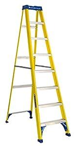 Louisville Ladder FS2008 250-Pound Duty Rating Fiberglass Step Ladder, 8-Feet