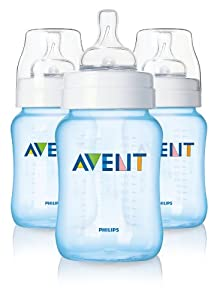 Philips AVENT BPA Free Classic Polypropylene Bottle, Blue, 9 Ounce, 3 Pack (Discontinued by Manufacturer)