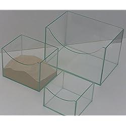 Sandbad Badehaus Jacuzzi für Nager aus Glas 20x15x15cm