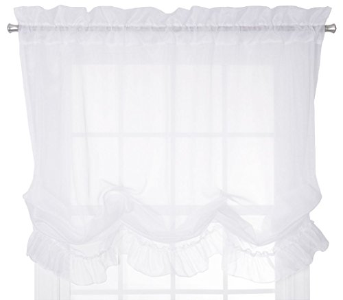 Ellis Curtain Jessica Sheer Tailored Tier Curtains, 54 By