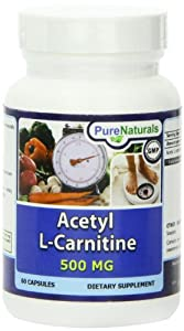 Pure Naturals Acetyl L-Carnitine Capsules, 500 mg, 60 Count