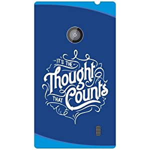 Nokia Lumia 520 Thought Counts Matte Finish Phone Cover