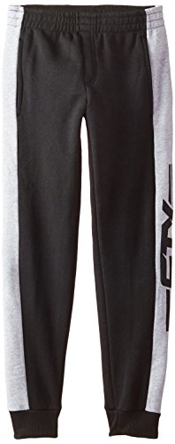 STX Boys' Fleece Pull On Sport Pant, TT23-Black Lacrosse, 14/16