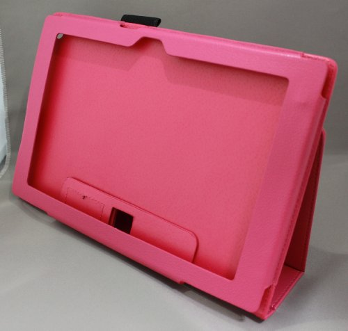 Homu HomuXperia Tablet Z SO-03E全11色PUレザーケース PUレザーカバー エクスペリアタブレットZ レザーケースレザーカバースタンド機能付 ペンホルダー付/SGP312JP (ホットピンク)(24-4)