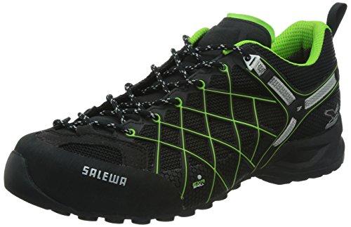 Salewa MS WILDFIRE GTX 00-0000063302, Scarpe da escursionismo e trekking uomo, Nero (Black/Emerald 0906), 39
